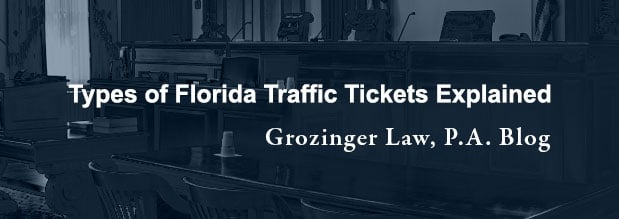 Types of Florida Traffic Tickets Explained