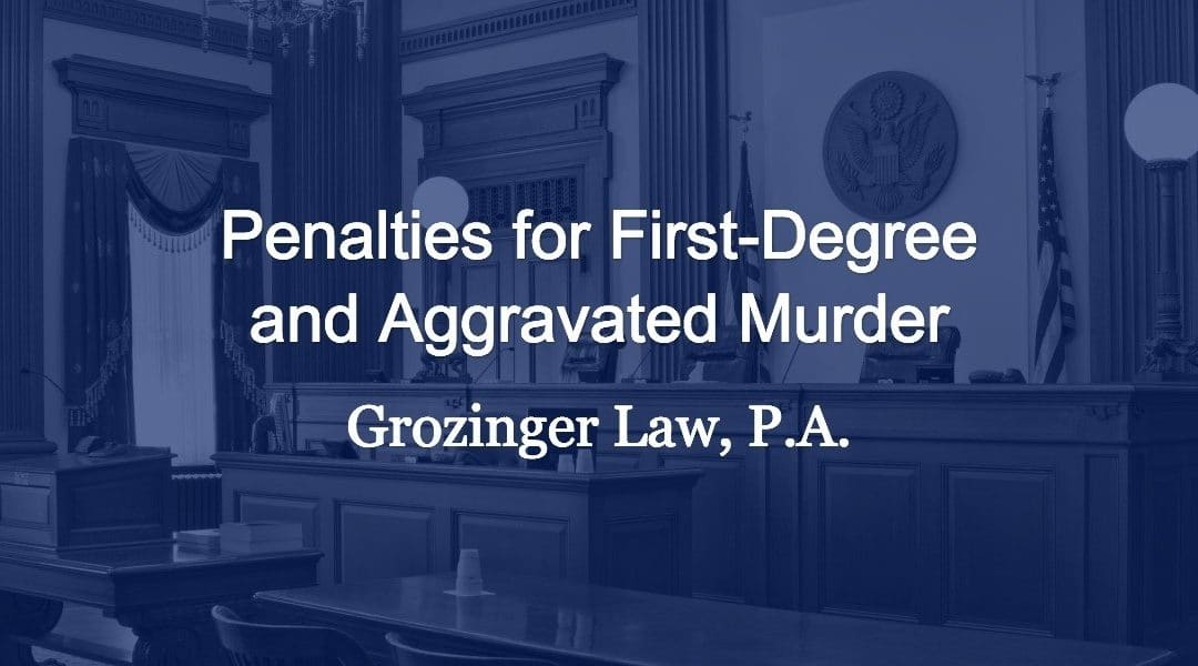 Penalties for First-Degree and Aggravated Murder