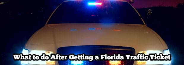 What to do After Getting a Florida Traffic Ticket